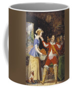 A Maid Offering A Basket Of Fruit To A Cavalier Coffee Mug