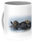 A Mama Sea Otter And Her Babe Coffee Mug