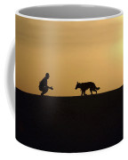 A Military Working Dog And His Handler Coffee Mug by Stocktrek Images