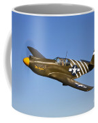 A P-51a Mustang In Flight Coffee Mug