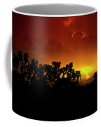 A Red Hot Desert Sunset  Coffee Mug