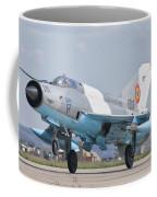 A Romanian Air Force Mig-21c Taking Coffee Mug