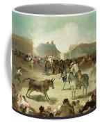 A Village Bullfight Coffee Mug