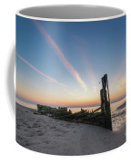 Abandoned Boat Sunset  Coffee Mug