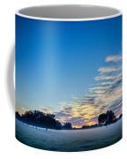 Abstract Early Morning Sunrise Over Farm Land Coffee Mug