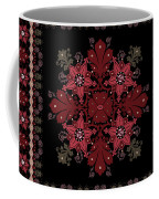 Abstract Ethnic Shawl Floral Pattern Design Coffee Mug