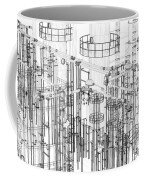Abstract Industrial And Technology Background Coffee Mug