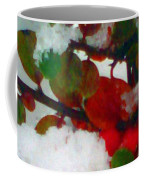 Abstract Landscape,winter Theme Coffee Mug