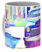 Abstract Watercolor - Havana Cuba Classic Car IIi Coffee Mug