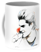 Adam Lambert Coffee Mug by Lin Petershagen