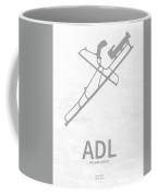 Adl Adelaide Airport In Adelaide Australia Runway Silhouette Coffee Mug