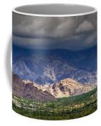 Aerial View Of Leh City Landscape Ladakh Jammu And Kashmir India Coffee Mug