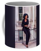 African American Businesswoman Working In New York Coffee Mug