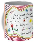 Albert Camus Doodle Quote Coffee Mug