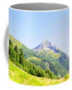 Alpine Mountain Peak Landscape. Coffee Mug