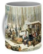 American Forest Scene Maple Sugaring Coffee Mug