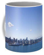 An Aerial View Of The City Of Vancouver Coffee Mug by Taylor S. Kennedy