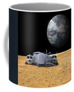 An Artists Depiction Of A Lunar Base Coffee Mug