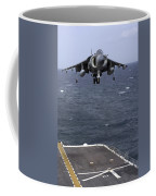 An Av-8b Harrier II Prepares To Land Coffee Mug