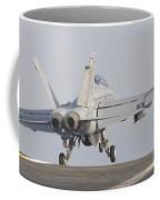 An Fa-18f Super Hornet Taking Coffee Mug