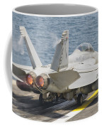 An Fa-18f Super Hornet Taking Off Coffee Mug