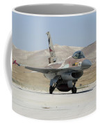 An Israeli Air Force F-16a Netz Taxiing Coffee Mug