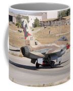 An Israeli Air Force F-16b Netz Taxiing Coffee Mug