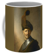 An Old Man In Military Costume Coffee Mug