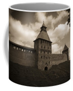 Ancient Walls. Sepia Coffee Mug