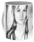 Angelina Jolie Portrait Coffee Mug