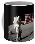 Apollo 17 Astronaut Salutes The United Coffee Mug