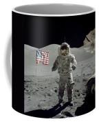 Apollo 17 Astronaut Stands Coffee Mug
