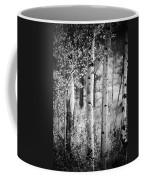 Aspen Trees In Black And White Coffee Mug