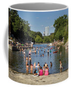 Austinites Love To Lounge In The Refreshing Waters Of Barton Springs Pool To Beat The Sizzling Texas Summer Heat Coffee Mug
