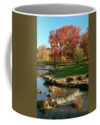 Autumn At The Deer Lake Creek Riffles In Forest Park St Louis Missouri Coffee Mug
