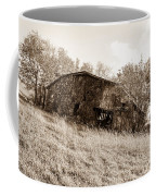 Back When Barn Sepia Coffee Mug