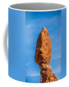 Balanced Rock In Arches National Park Near Moab  Utah At Sunset Coffee Mug