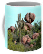 Balancing Act In The Arizona Desert 2 Coffee Mug