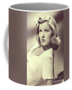 Barbara Bel Geddes, Vintage Actress Coffee Mug
