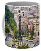 Barcelona With Tree-lined Las Ramblas Coffee Mug by Annie Griffiths