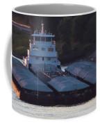 Barge On Mississippi River Coffee Mug