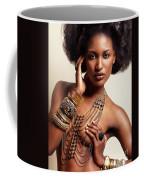 Beautiful African American Woman Wearing Jewelry Coffee Mug
