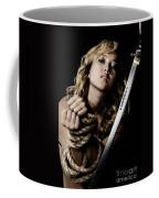 Beautiful Woman Begging For Mercy Coffee Mug