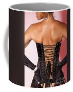 Beautiful Woman In Black Corset Coffee Mug