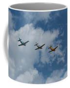 Beechcraft T-34 Mentor Airplane Trio 3 Coffee Mug