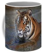 Bengal Tiger Laying In Water Coffee Mug