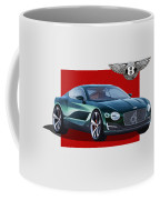 Bentley E X P  10 Speed 6 With  3 D  Badge  Coffee Mug