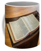 Bible And Gavel Coffee Mug