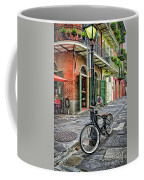 Bike And Lamppost In Pirate's Alley Coffee Mug