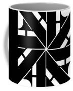Black And White Geometric Coffee Mug